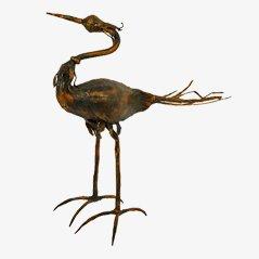 Vintage Vogel Skulptur von Salvino Marsura, Italien