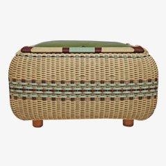 Vintage Basket Storage Seat, 1950s