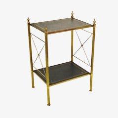 Vintage Bronze & Messing Beistelltisch von Maison Jansen