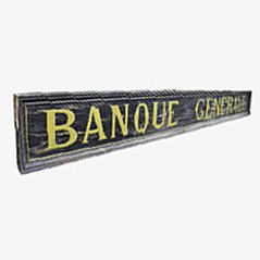 Antique French Bank Sign, 1900s