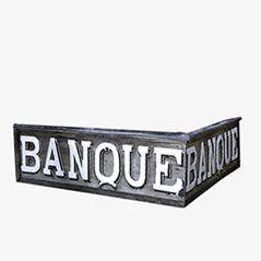 Französisches Vintage Bank Schild, 1920er