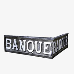 Vintage French Bank Sign, 1920s