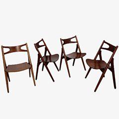 CH29 Beech Side Chairs by Hans J. Wegner for Carl Hansen & Søn, Set of 4