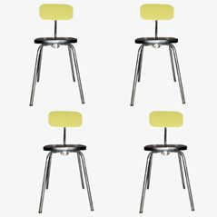Vintage Retractable Chairs from VOLO, 1950s, Set of 4