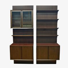 Modular Mahogany Wall Units by Poul Cadovius for Cado, Set of 2