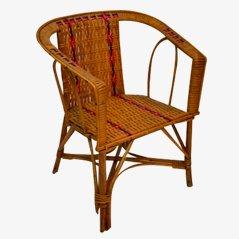 Chaise pour Enfant Vintage en Osier, 1950s