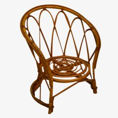Vintage Children's Rattan Chair, 1960s