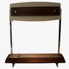 Schreibtischlampe aus Metall und Glas von Stilnovo, 1960er