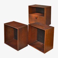 Vintage Boxen aus Teakholz von Hugo Troeds für Troeds, 1960er, 3er Set