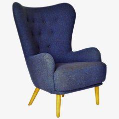Blue DA1 Armchair by Ernest Race for Race Furniture, 1950s