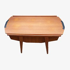 Mid Century Danish Sewing Box Table, 1950s