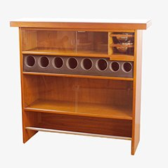 Danish Modern Teak Bar by Erik Buck for Heltborg Mobler, 1960s