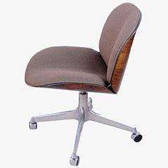 Chaise de Bureau Pivotante Vintage par Ico Parisi pour MIM