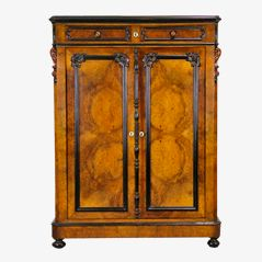 Antique Walnut Wardrobe, 1850
