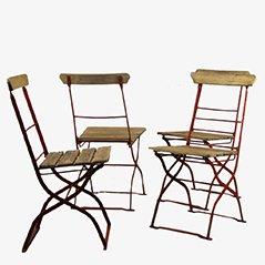 Vintage Outdoor Stühle, 1900er, 4er Set