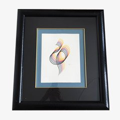 Lines and Forms Lithograph Wall Decor by Yacov Agam for Martin Lawrence Limited Editions