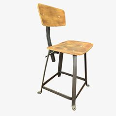 Vintage Industrial Chair from Bienaise