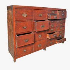 Vintage Haberdasher's Cabinet