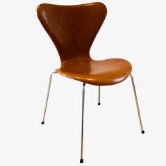 3107 Syveren Elegance Wax Esszimmerstuhl von Arne Jacobsen für Fritz Hansen