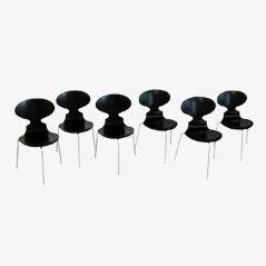 FH 3100 Ant Chairs von Arne Jacobsen für Fritz Hansen, 1969, 6er Set