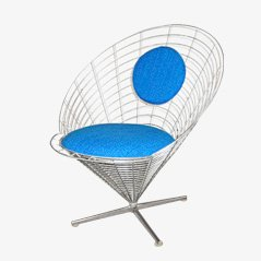 Wire Cone Swivel Chair by Verner Panton for Plus Linje, 1959