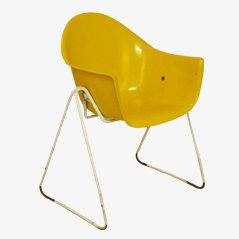Yellow Children's Chair by Walter Papst for Wilkhahn, 1960s