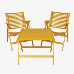 Rex Folding Chairs & Table Set by Niko Kralj, 1952