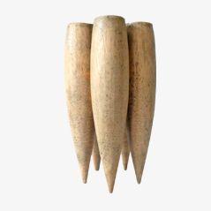 Vaso Mid-Century tubulare in legno