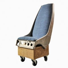 Upcycled Helicopter Seat, 1970s