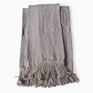 Handtücher aus Leinen mit Langen Fransen von Once Milano, 2er Set