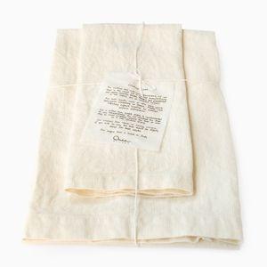 Set of Two Heavy Linen Bath Towels by Once Milano