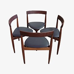 Great Compact Dining Chairs By Hans Olsen For Frem Rojle, Set Of 4