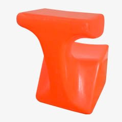Orange Zocker Children's Chair by Luigi Colani for Top System Burkhard Lübke, 1971