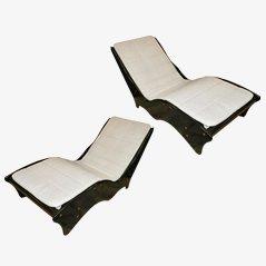 Vintage Chaise Longues, 1970s, Set of 2