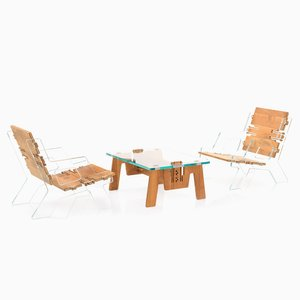 CLICLounge Glass Miami Set of 2 Chairs & Coffee Table by Alexander Pelikan