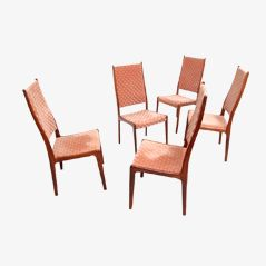 Rosewood Dining Chairs by Johannes Andersen, 1960s, Set of 5