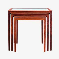 Mid-Century Rio Rosewood Nesting Tables, Set of 3