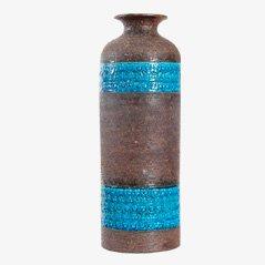 Dänische Keramikvase von Aldo Londi für Bitossi Ceramiche
