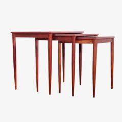 Danish Rio Rosewood Nesting Tables, 1960s