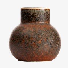 Braune CEA Vase von Carl Harry Stålhane für Rörstrand