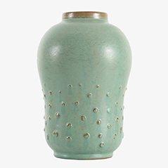 Skandinavische Keramik Vase von Ewald Dahlskog für Bo Fajans