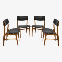 Vintage Kunstleder Stühle, 1960er, 4er Set