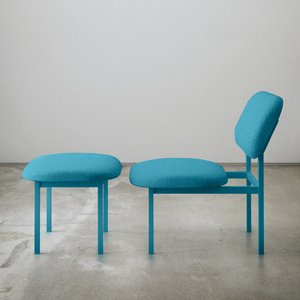Re-Imagined Low Chair in Blue by Nina Tolstrup