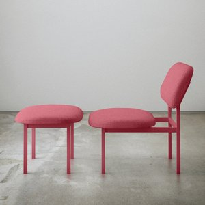 Re-Imagined Low Chair in Pink by Nina Tolstrup