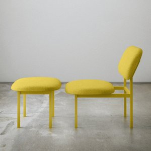 Re-Imagined Low Chair in Yellow by Nina Tolstrup