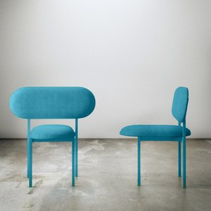 Re-Imagined Chair 02 Originale Bleue par Nina Tolstrup