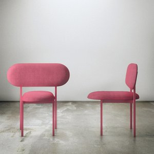 Re-Imagined Original Chair 02 in Pink by Nina Tolstrup