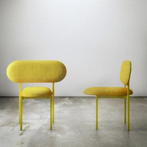 Re-Imagined Chair 02 Originale Jaune par Nina Tolstrup