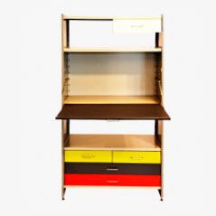 5600 Wall Unit with Writing Desk by A.R. Cordemeyer and Wim Rietveld for Gispen, 1960s