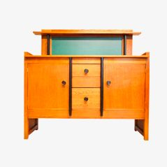 Vintage Oak Buffet by Jan Brunott for J. Brunott The Hague, 1925
